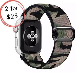 Camouflage Print Sport Loop Band for Apple iWatch